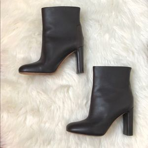 Vince Chocolate Brown Leather Boots